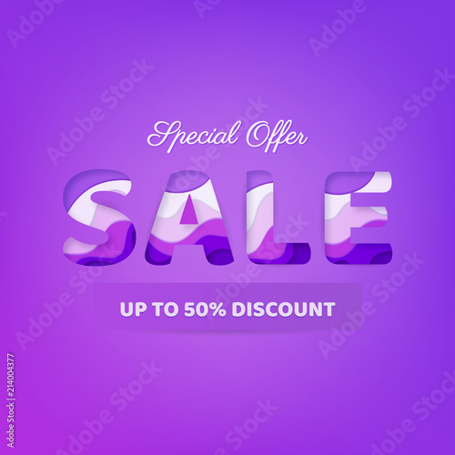 Sale background  Colorful and Bright Banner, Trendy Bright