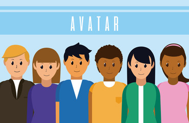 People avatar cartoon