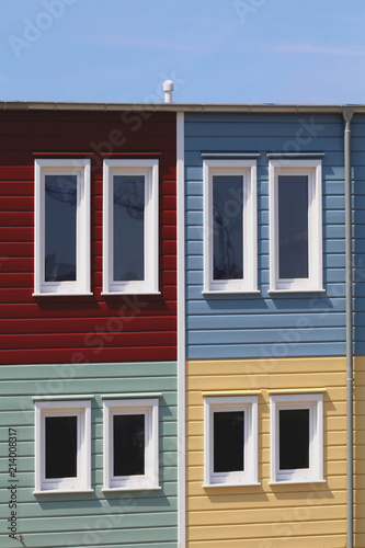 Bunte Holzhauser Architektur Container Stock Photo And Royalty Free