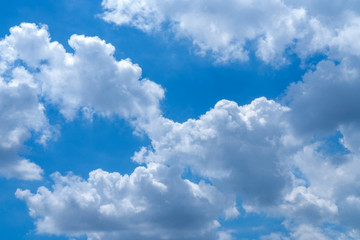Beautiful blue sky with cloudy. Color sky is clear with white clouds on natural background.
