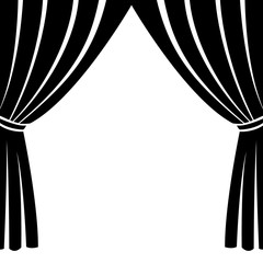 Theatre stage icon simple. Illustration of theatre stage icon vector for web. Open for film event. curtain vector icon. curtain Illustartion