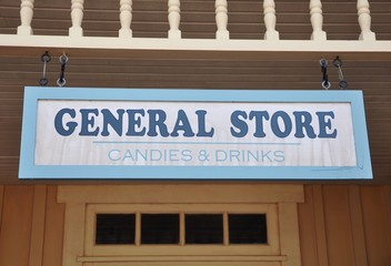 General store signboard