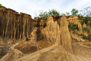 Natural phenomena caused by erosion make the environment change.