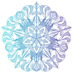 colorful gradient mandala pattern for logo design  coloring books