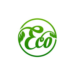 eco logo template vector Illustration