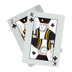 jack and king clubs cards casino game