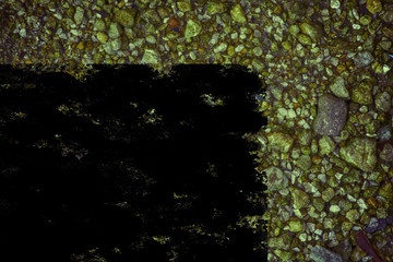 Grunge Pebble surface, stone texture or rock backdrop, ground background