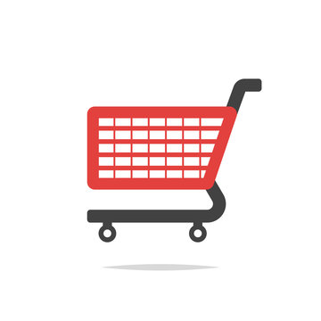 Shopping cart vector isolated