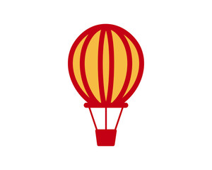 hot air balloon vehicle transport transportation conveyance logo image vector icon