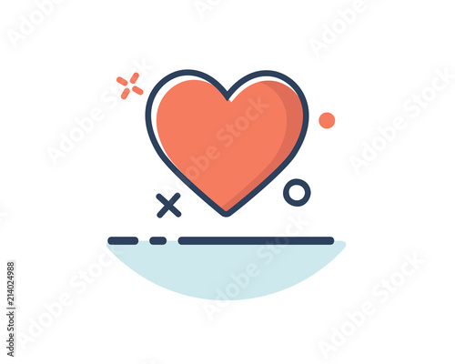Heart Icon Line Filled Design Illustrationdesigned For Web And App