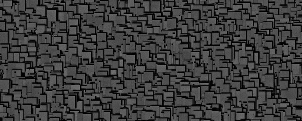 Fantastic abstract powerful metal panorama background pattern