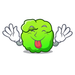 Tongue out shrub mascot cartoon style