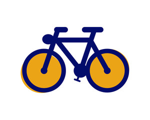 blue bike vehicle conveyance transport transportation logo image vector icon