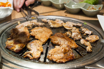 Korean Barbecue Meat on Grill