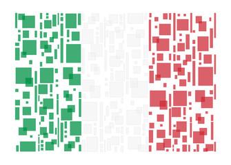 Italy flag pixel concept