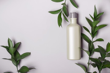 Natural Cosmetics concept. Organic product and wild herbs