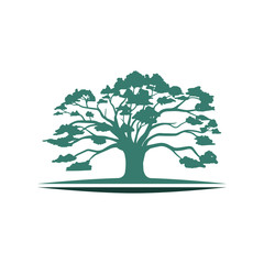 Big Oak Tree Ecology Environmental Nature Symbol