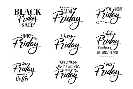 friday hell lettering