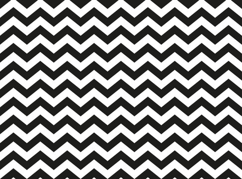 Regular black and white zigzag chevron pattern, seamless zig zag line texture abstract geometry background