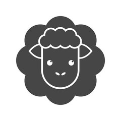 Cute sheep icon illustration