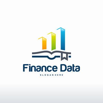 Finance Data Logo designs concept vector, Stats logo designs template vector