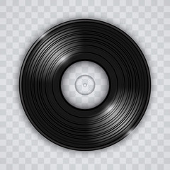 Vinyl record transparent effect vector