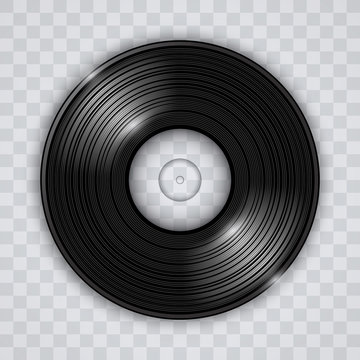 Vinyl record transparent effect vector