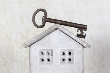 Key from a house concept