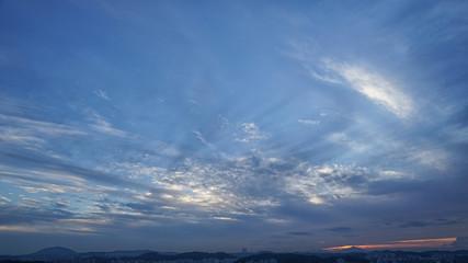Dramatic sunset background