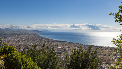 cityscape of Alanya Turkeywith castle view