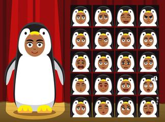 Fancy Animal Clothes Penguin Costume Cartoon Emotion faces