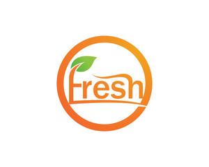 Fresh logo and symbols vector icon template nature