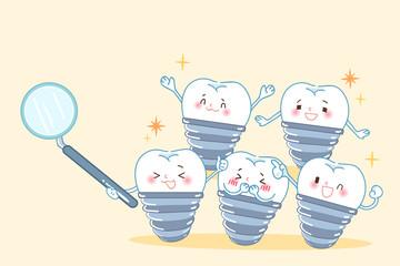 cartoon implant tooth