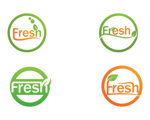 Fresh logo and symbols vector icon template nature