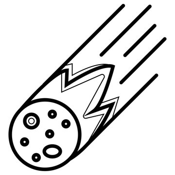 Meteorite vector icon