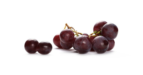 Cardinal grapes isolated on white background