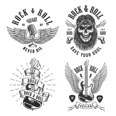 Rock and roll emblems