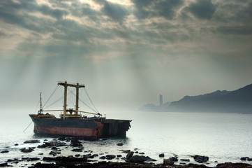 Ship, Wanli Sea, Yehliu, Taiwan, Asia