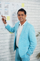 Businessman preparing for meeting