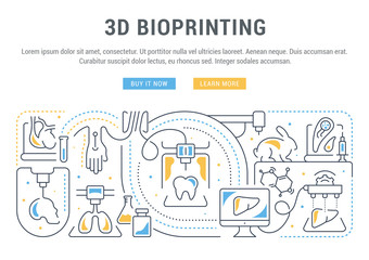 Linear Banner of 3D Bioprinting.
