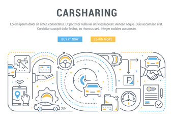 Linear Banner of Carsharing.