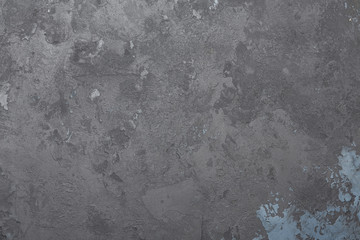 Painted gray sprinkled shabby background. Concrete texture.