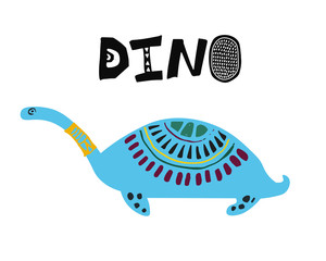 Cartoon dino, dinosaur illustration.