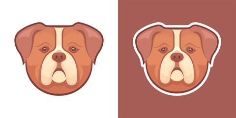 Illustration of Face of Dog