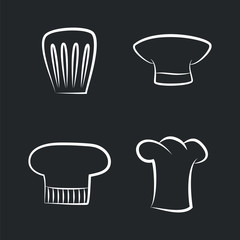Headwear Items of Chef Staff, Bakery or Cafe Cooker