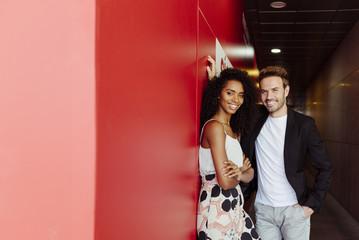 Man flirting with black woman