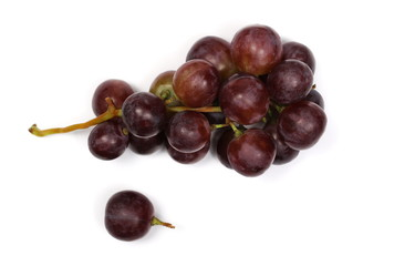 Cardinal grapes isolated on white background, top view Fototapete