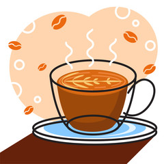 coffee vector with white background graphic for illustration