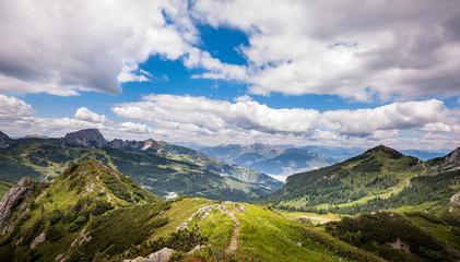 Mountain panorama. JulianAlps in Italy.