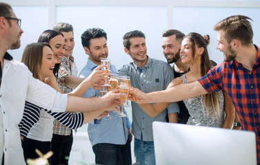 creative business team celebrates their success